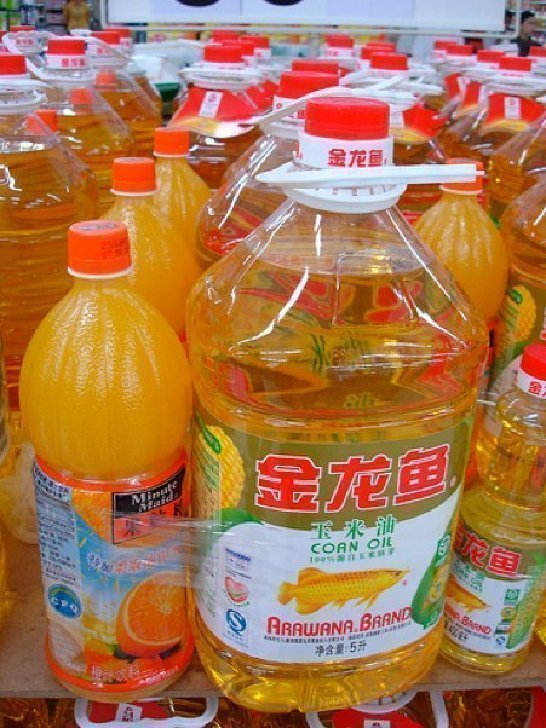 orange juice and cooking oil